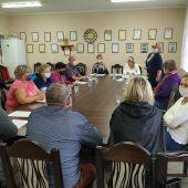 Zebranie wiejskie w Kornatowie