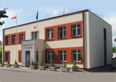 To jest budynek Urzędu Gminy w Lisewie