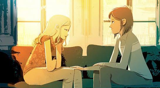 grafika- dwie kobiety w wersji animowanej