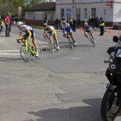 zdjecia zrobione w momencie trwania wyścigu kolarskiego w Gminie Lisewo