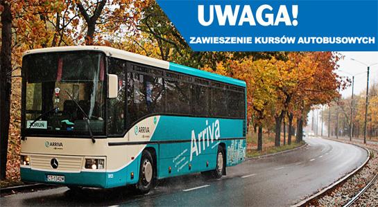 Grafika tematyczna - Zawieszenie kursów autobusowych