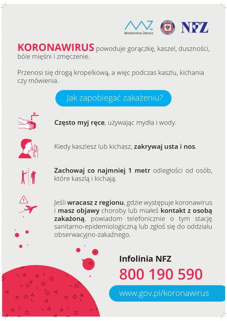 KORONOWIRUS- Jak zapobiegać zakażeniu?