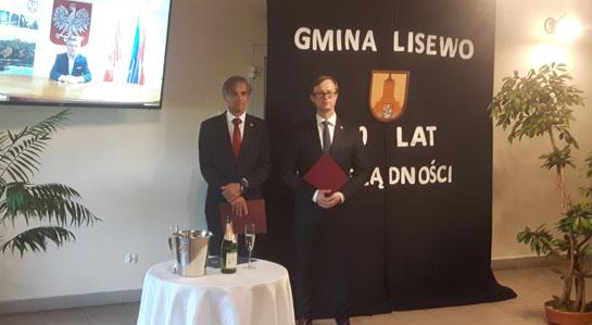 Na zdjęciu Wójt Gminy Lisewo oraz Przewodniczący Rady Gminy.