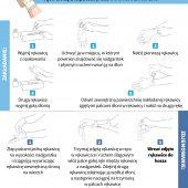 Grafika - jak prawidłowo nałożyć i zdjąć rękawice.