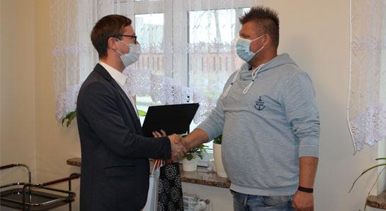 Wojciech Cabaj odbiera gratulacje