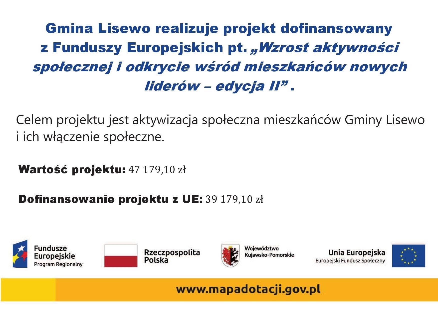 Tablica informacyjna - Wzrost aktywności społecznej i odkrycie wśród mieszkańców nowych liderów - edycja 2