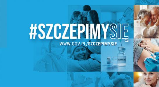 Grafika promocyjna akcji szczepienia przeciw COVID-19