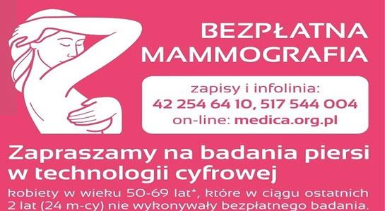 Baner - bezpłatna mammografia