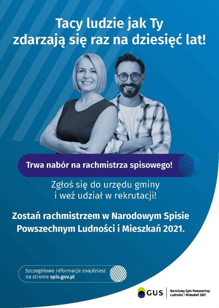 Plakat informacyjny - nabór na rachmistrzów spisowych