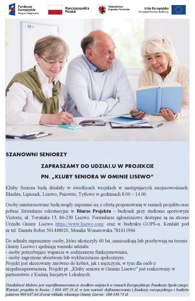 Plakat promocyjny - Kluby Seniora
