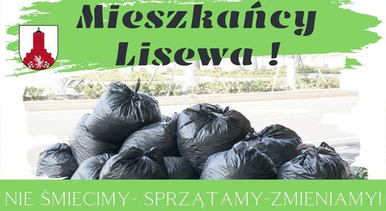 Plakat informacyjny - sprzątanie miejscowości Lisewo