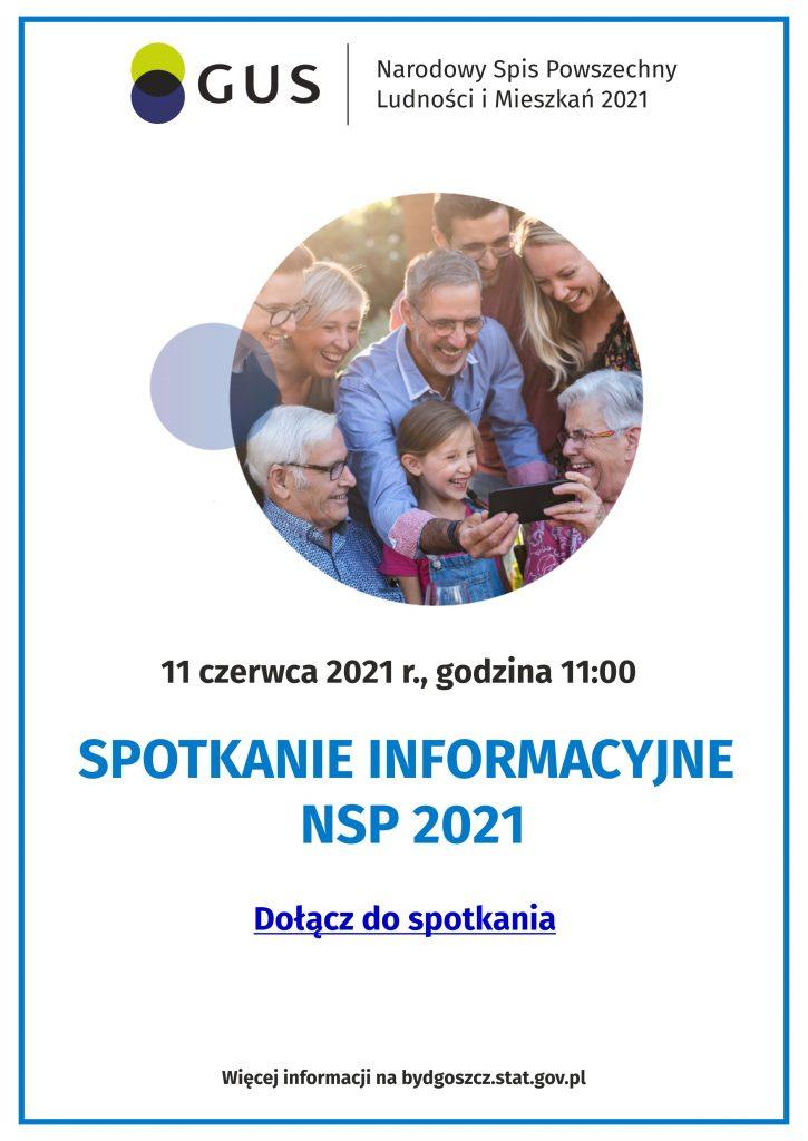Plakat - spotkanie informacyjne Narodowy Spis Powszechny