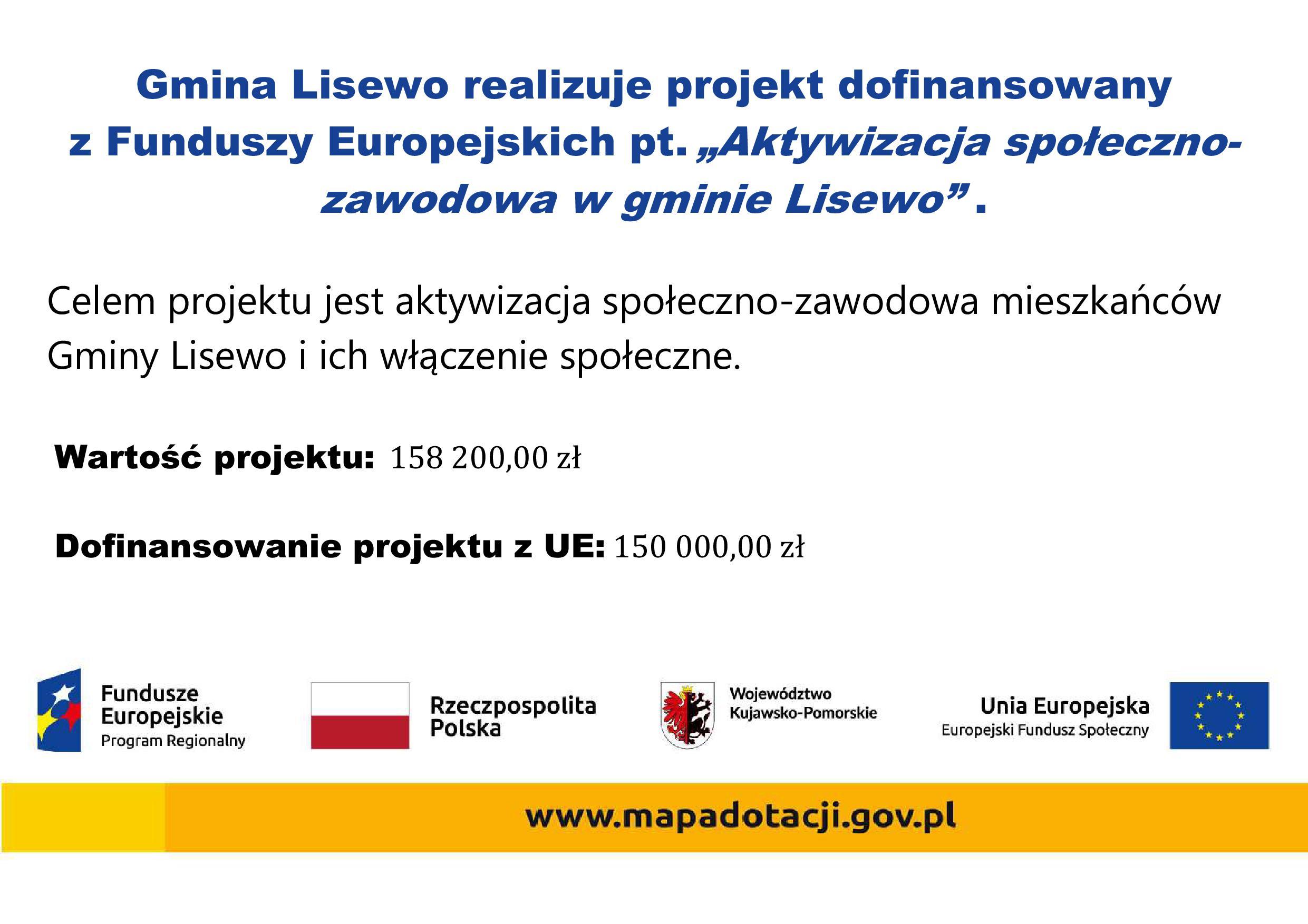 aktywizacja spoleczno zawodowa w gminie Lisewo